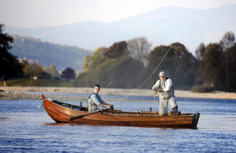 Fishing at Kinnaird Estate.