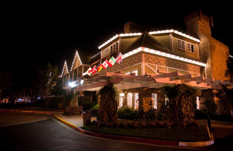 Exterior of the Resort at Night at the Carlsbad Inn Beach Resort