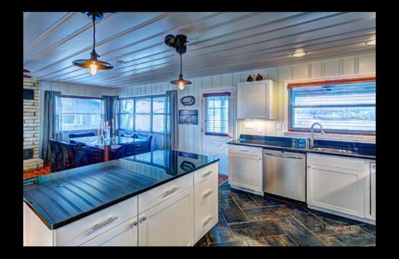 Cottage kitchen at Mallard Point Resort.