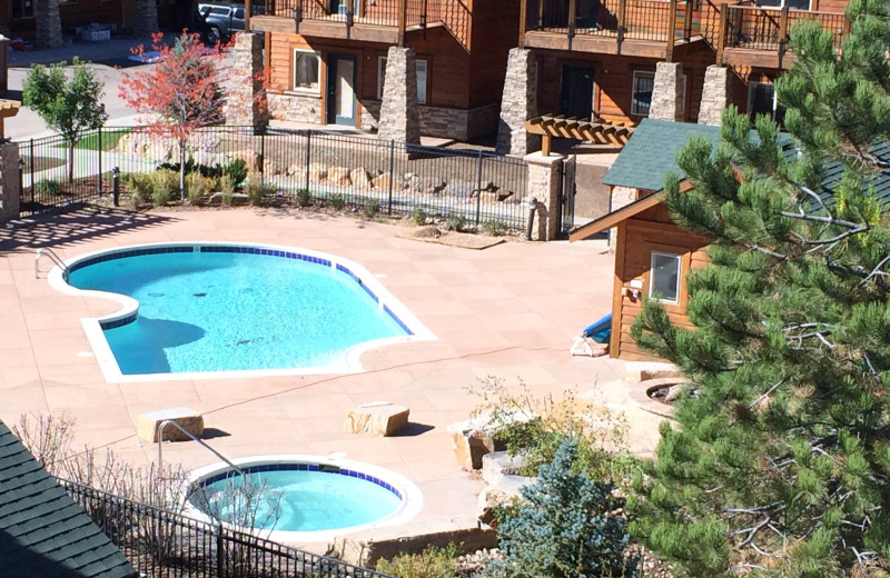 Outdoor pool at Fall River Village Resort Condos.