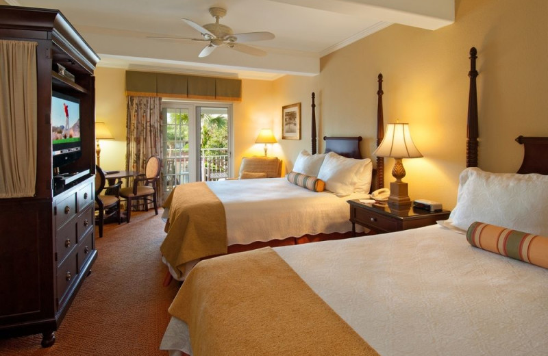 Guest room at The King and Prince Beach & Golf Resort.