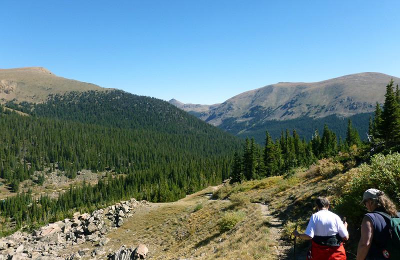 Scenic hikes at Tumbling River Ranch.