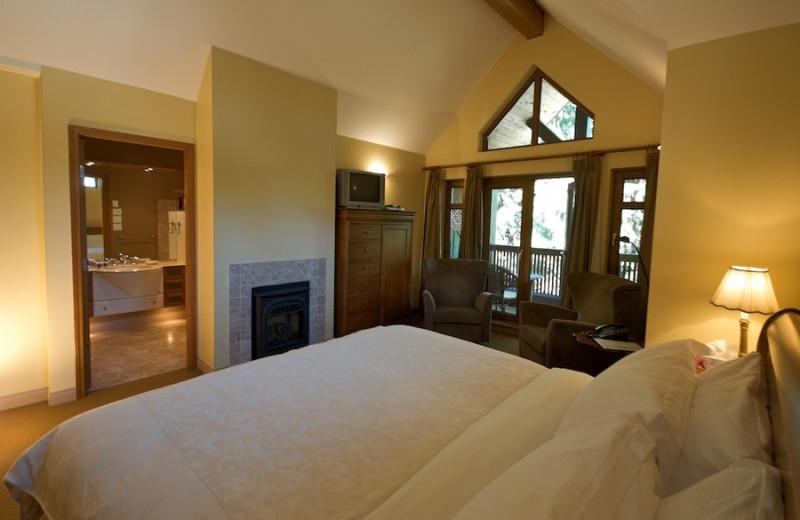 Guest room at Alpine Chalet Whistler Inn.
