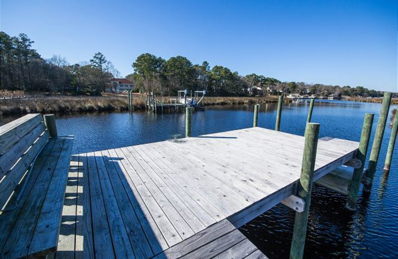 Rental dock at Beach Realty & Construction.