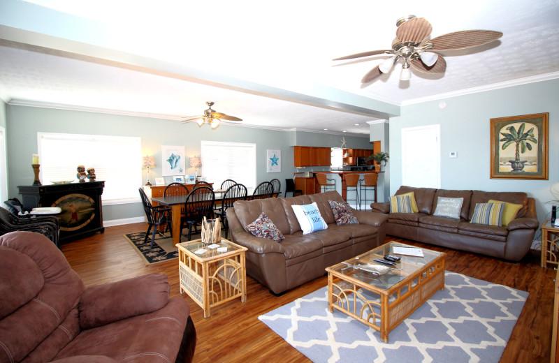 Rental living room at Boardwalk Realty Inc.