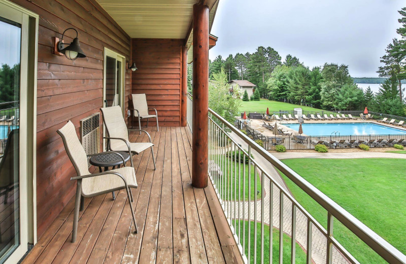 Rental balcony at Hiller Vacation Homes.