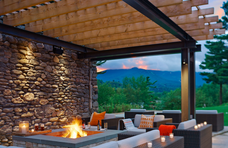 New firepit at Topnotch Resort.