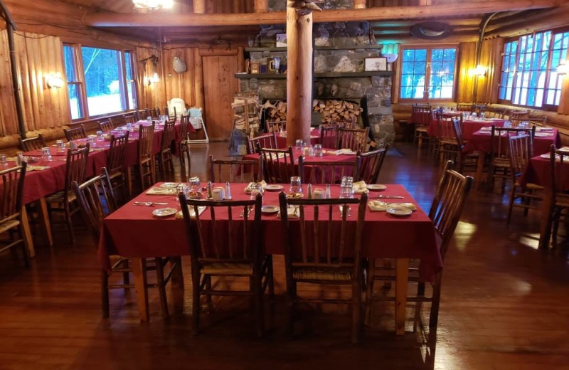 Dining at The Birches Resort.