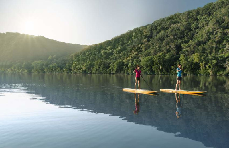 Paddleboarding at Lake Austin Spa Resort