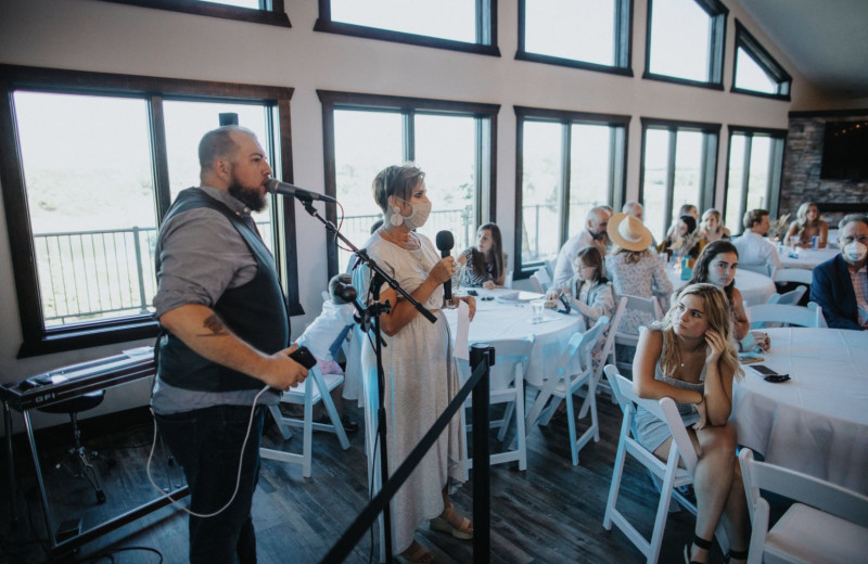 Wedding party at Granite Springs Lodge.