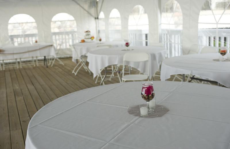 Wedding tent at ParkShore Resort.