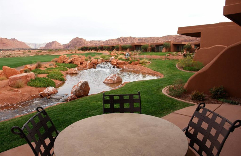 Private patio at The Inn at Entrada.