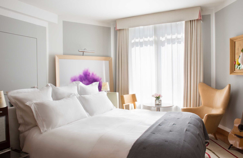Guest room at Royal Monceau.