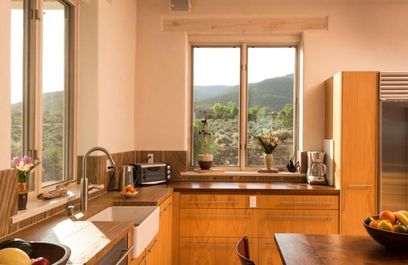 Kitchen at Adobe Zen House.