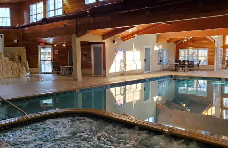 Indoor pool at Bridgeport Waterfront Resort.