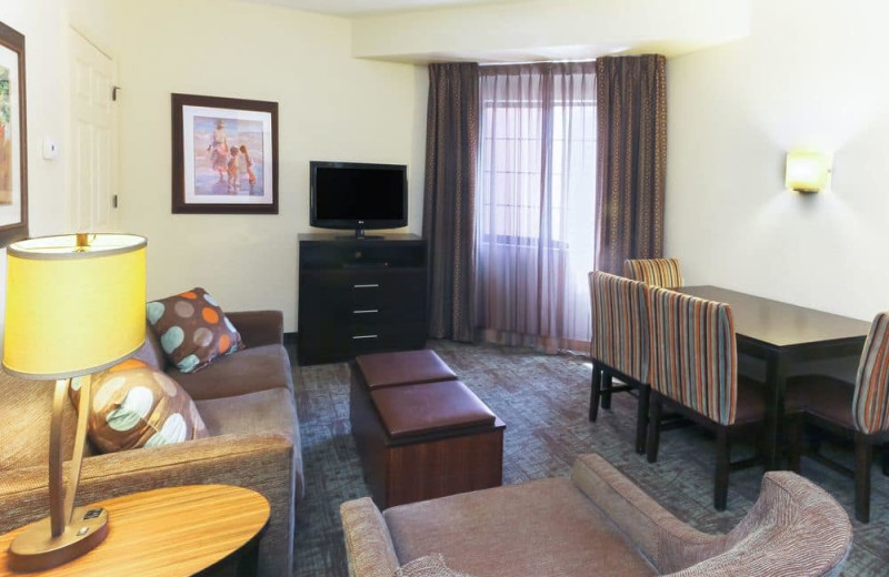 Guest living room at Staybridge Suites Naples-Gulf Coast.