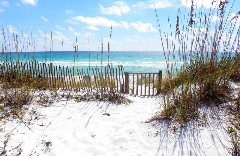 The beach at Paradise Beach Homes.