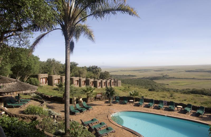 Outdoor pool at Mara Serena Safari Lodge.