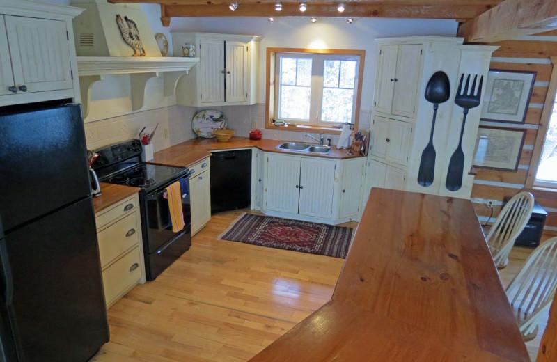 Rental kitchen at All-Season Cottage Rentals.