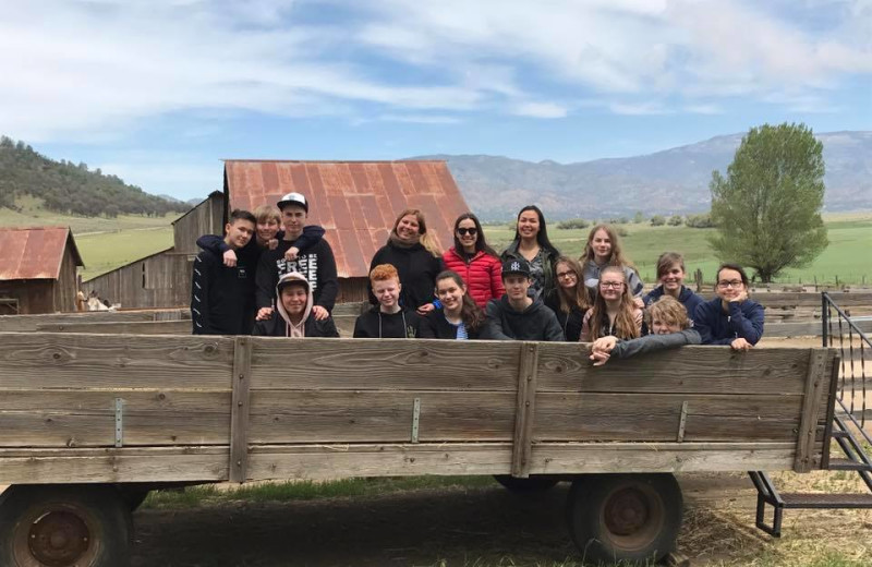 Tractor ride at Rankin Ranch.