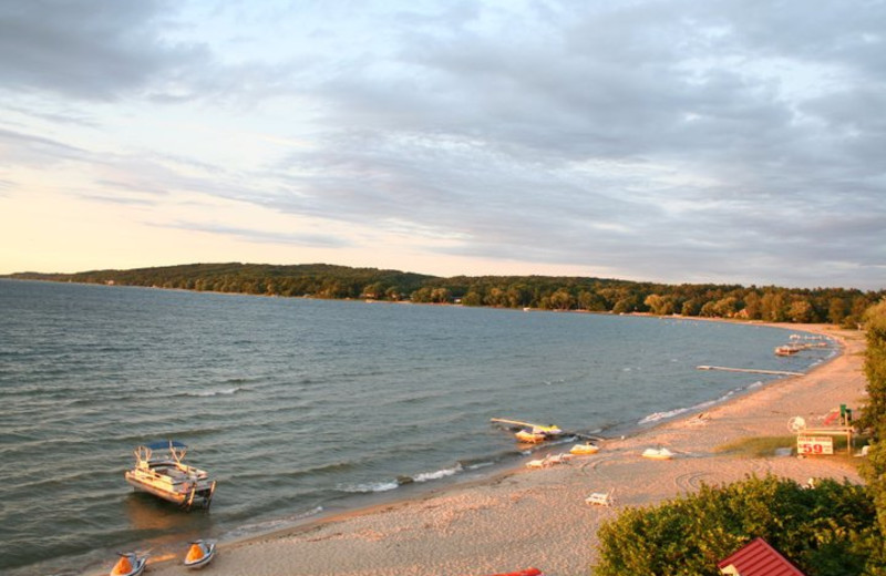 Shore line at Bayshore Resort.