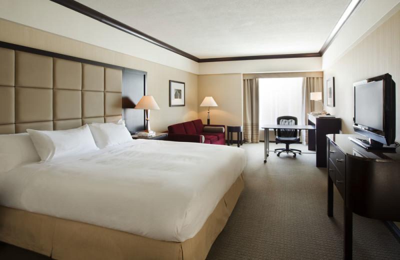 Guest room at Hilton Montreal Bonaventure.