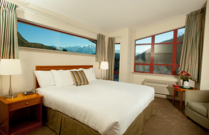 Guest room with a view at Harrison Beach Hotel.