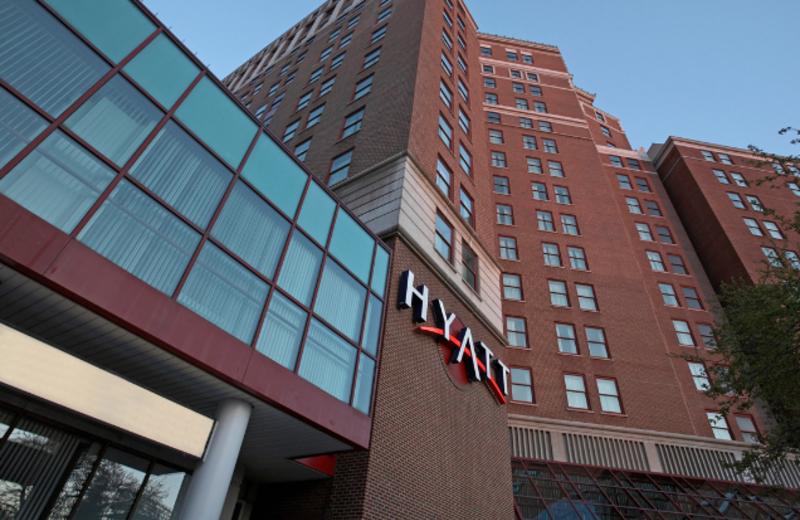 The facade of the Hyatt Regency Buffalo.