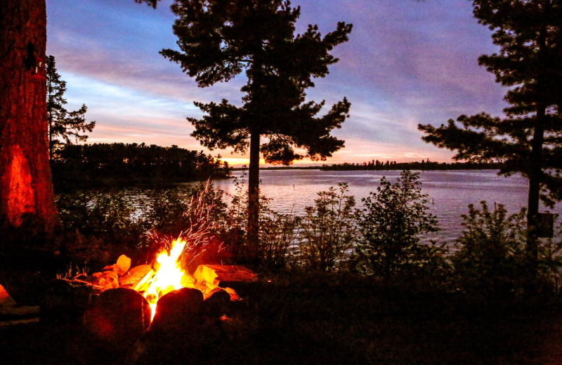 Bonfire at Kabetogama Lake Association.
