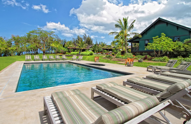 Outdoor pool at Lumeria Maui.
