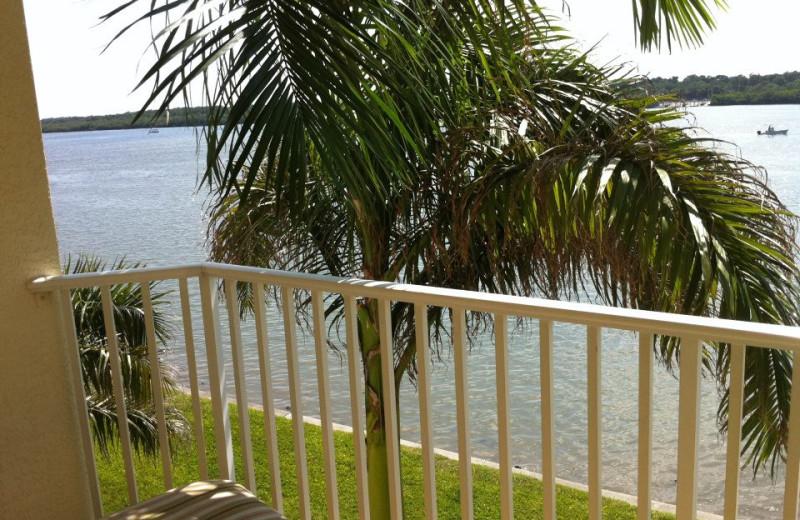 Balcony view at Boca Ciega Resort.