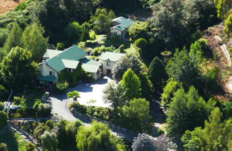 Aerial view of Motueka River Lodge.
