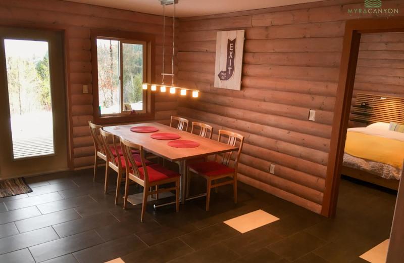 Guest room at Myra Canyon.