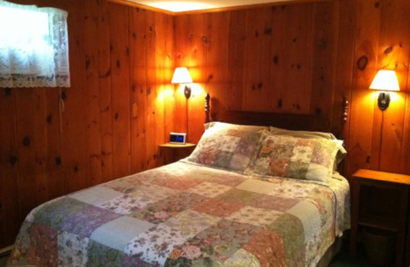 Motel bedroom at Phoenicia Lodge.