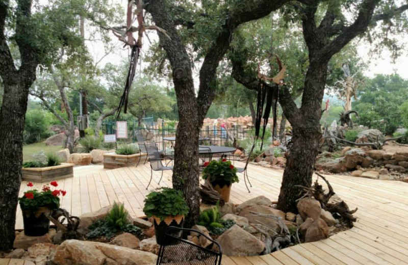 Patio at Big Chief RV Resort.