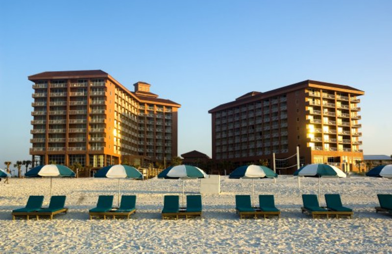 The beach at Perdido Beach Resort.