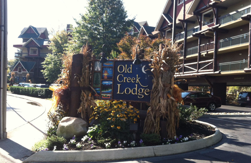 Exterior at Old Creek Lodge.
