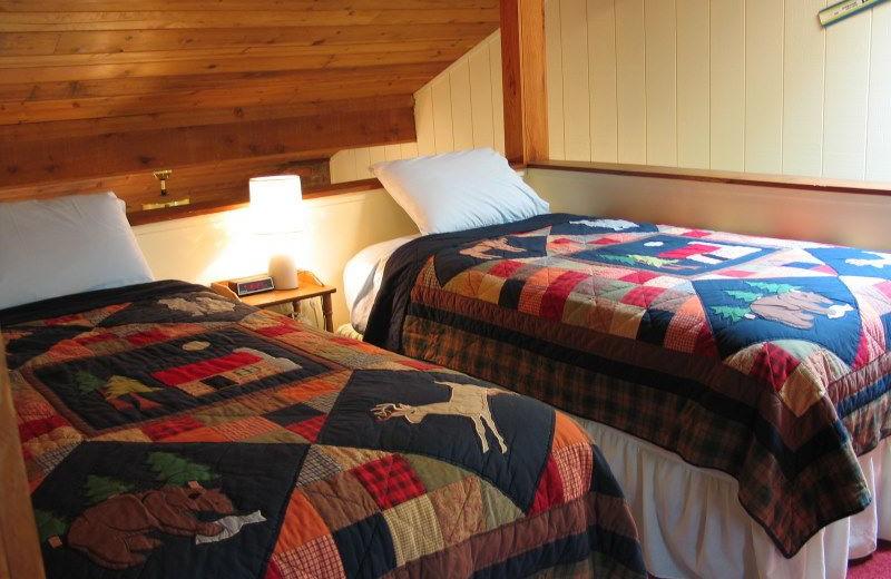 Guest bedroom at Chateau LeVeaux.