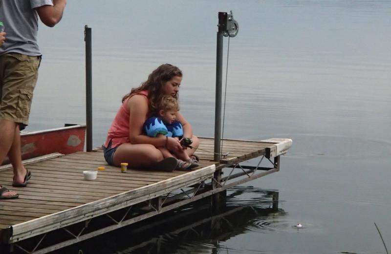 Docking at Whispering Waters Resort.