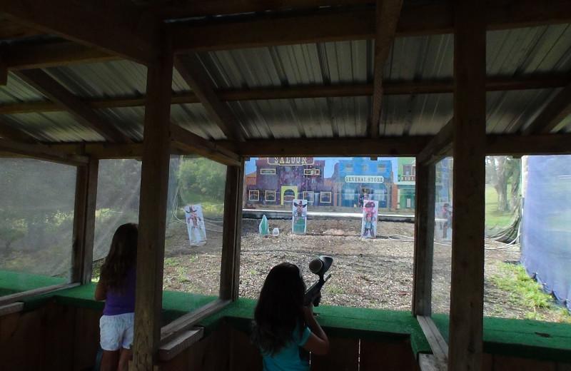Shooting practice at Villa Roma Resort.
