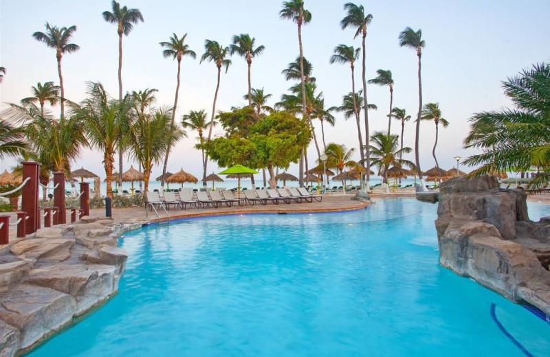 Outdoor pool at Holiday Inn SunSpree Resort Aruba - Beach Resort & Casino.