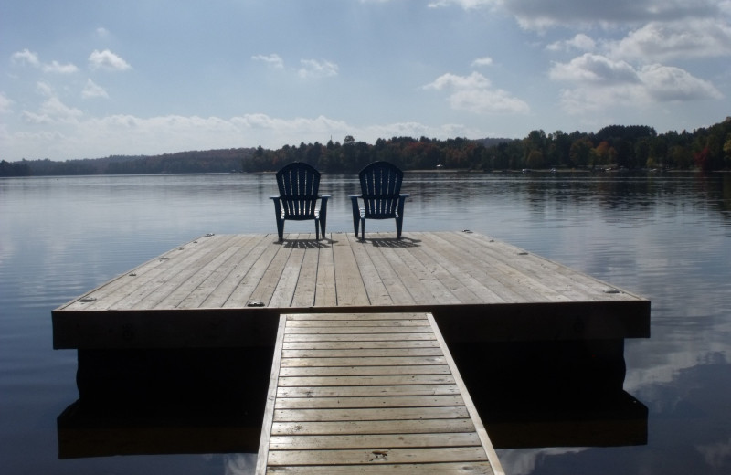 Dock at Parkway Cottage Resort & Trading Post.