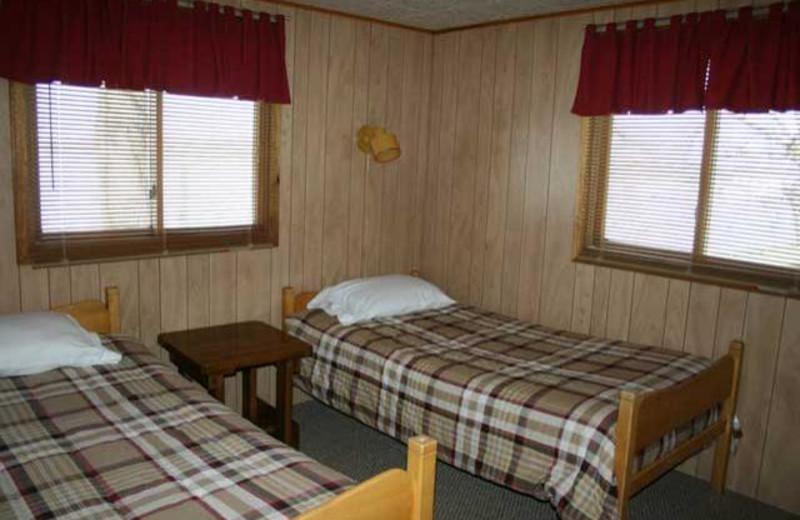 Club guest room at Ten Mile Lake Resort.