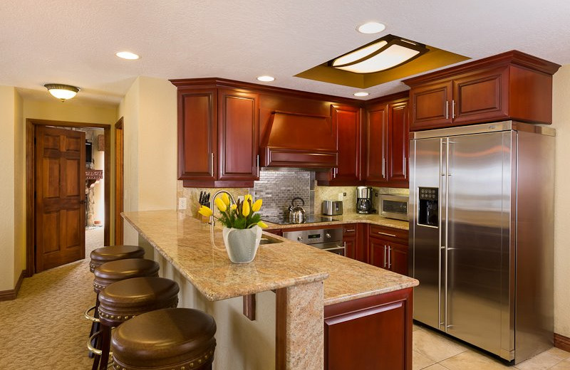 Guest kitchen at Westgate Park City Resort & Spa.