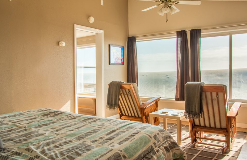 rental bedroom at Kiwanda Coastal Properties.