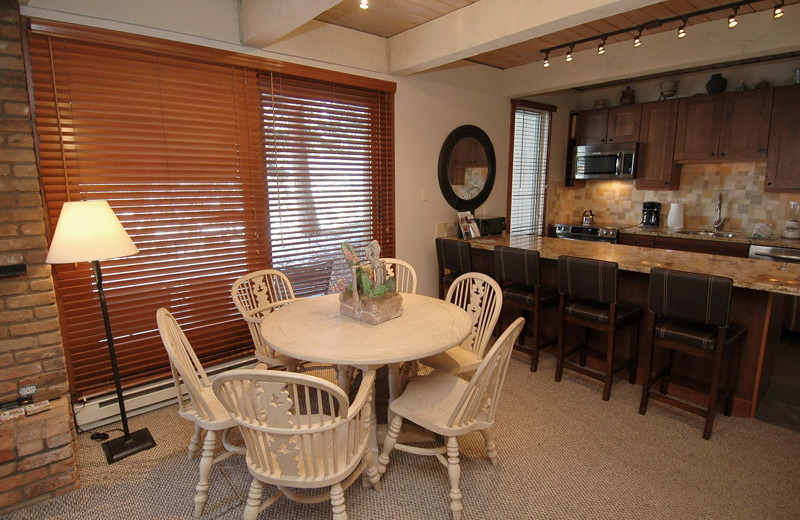 Rental dining area at Frias Properties of Aspen - Chateau Eau Claire #20.