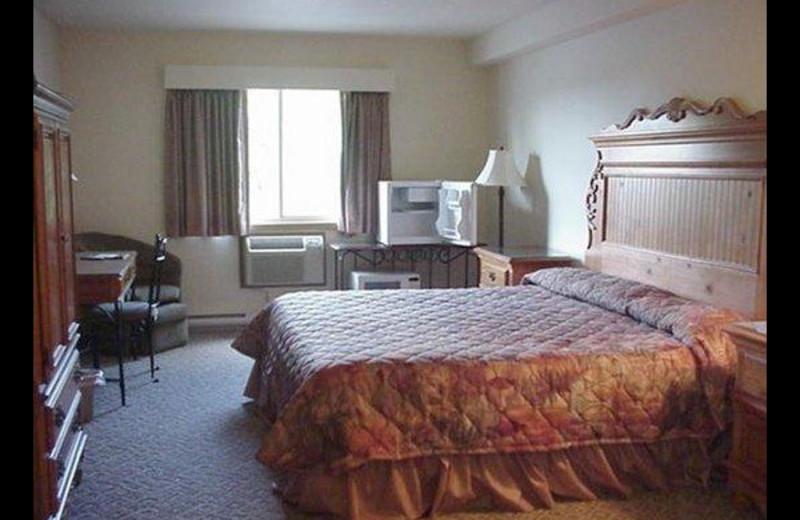 Guest room at Evergreen Inn.