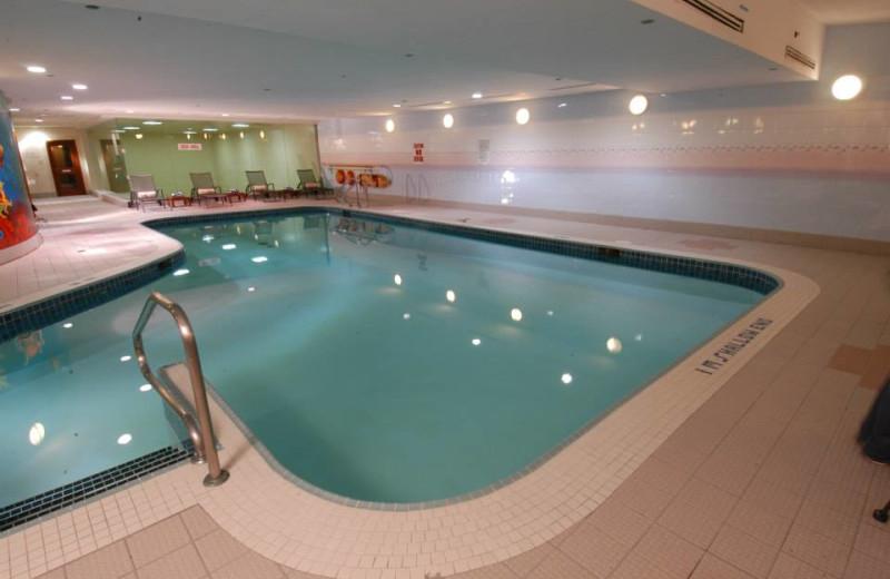 Indoor pool at Novotel Toronto Mississauga Centre.