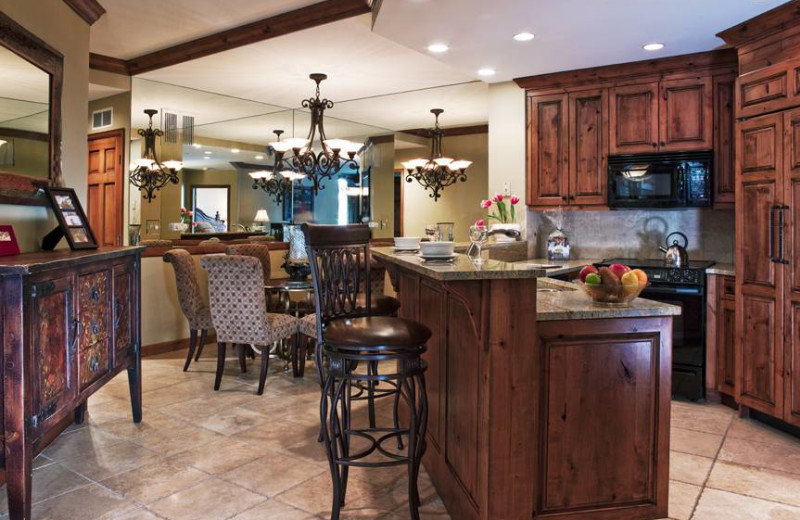 Guest kitchen at East West Resorts Beaver Creek.