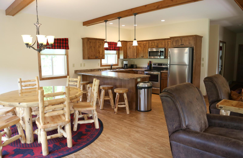 Guest kitchen at East Silent Lake Resort.